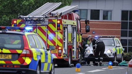 File image of emergency services at the scene of a collision. Picture: ASHLEY PICKERING
