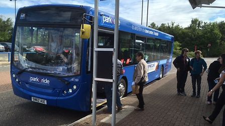 First Eastern Counties' new park and ride service for Ipswich. Picture: PAUL GEATER