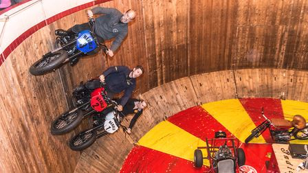 Ken Fox's Wall of Death will be returning this sunday at the Copdock Motorcycle Show. Picture: MATTH