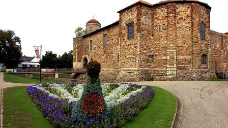 Some of the floral displays in Colchester Castle Park. Picture: JAMES FLETCHER