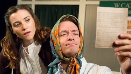 Joe Leat and Rosalind Burt in Eastern Angles' Everything Must Go, a community play examining the way