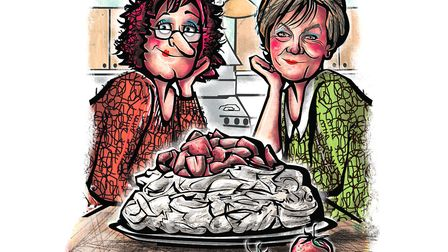 Delia and me and our pavlova. Picture: BB