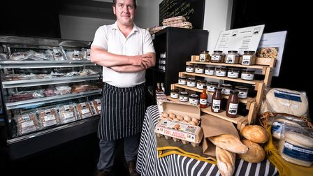 Joe Sloane with some of his artisan products made from sustainable sources. Picture: CONTRIBUTED