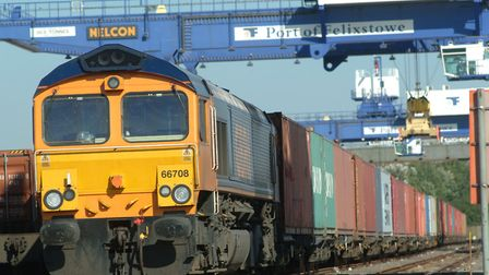 The new track will increase the number of freight trains that can use the Felixstowe branch.