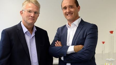 Richard Hope, chief finance officer at Treatt, left, and Daemmon Reeve, group chief executive. Pict