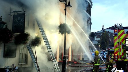 Firefighters from all over Suffolk were called to battle the blaze. Picture: ANDY ABBOTT