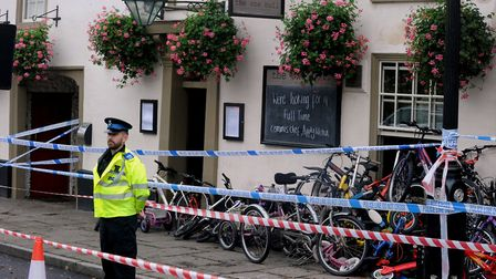 Bikes were piled up outside neighbouring pub The One Bull. Picture: ANDY ABBOTT
