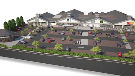Off Felixstowe Road in east Ipswich, a cgi of how the finished development will look
