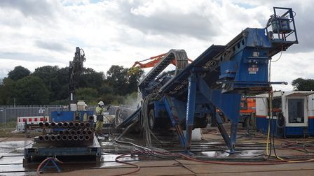The specialist drill being used to help lay underground cables. Picture: UK POWER NETWORKS