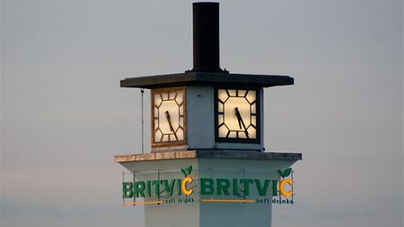 The Britvic tower at Widford, Chelmsford.