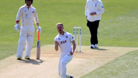 Jamie Porter celebrates one of his many wickets for Essex this season. Picture: PA SPORT