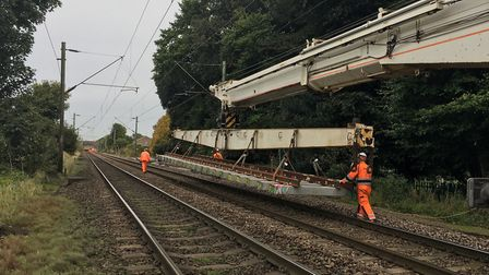 Network Rail has replaced track at Kelvedon. Picture: NETWORK RAIL