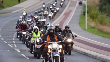 Last year's rememberance motorbike run. Picture: SARAH LUCY BROWN