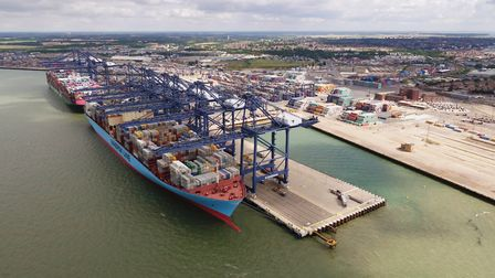 Berths 8 and 9 at the Port of Felixstowe. Picture: Hutchison Ports