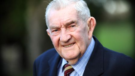 Roland Baker from Bacton who was a Japanese prisoner of war and helped build the famous 'death railw