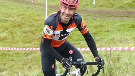 50+ winner Jimmy Piper makes light of a climb at the Colchester Cyclo-Cross. Picture: FERGUS MUIR