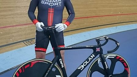 Christopher Welham, heading off to LA in pursuit of World Track cycling glory.