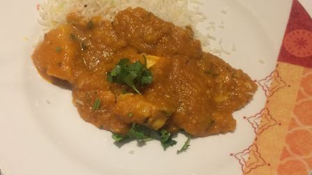 Restaurant review, Curry India, Framlingham. Chicken dhansak with pilau rice. Picture: Archant.