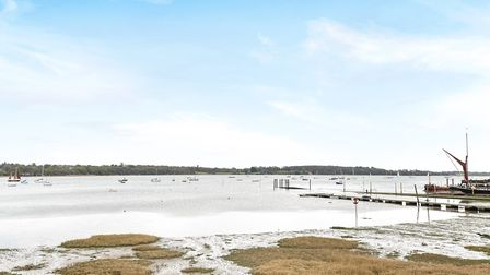 Pin Mill, Suffolk, experienced some minor flooding earlier