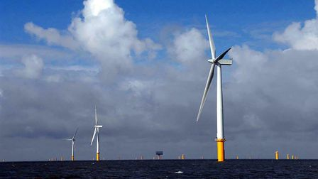 Gunfleet Sands offshore wind farm, operated by DONG Energy, is 7km off the Essex coast. Pic: Cont