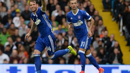 Joe Garner and Bersant Celina have both added some spark to Ipswich Town attack. Photo: Pagepix