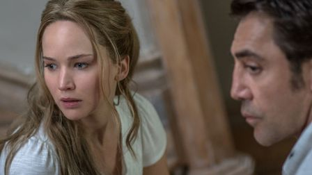 Jennifer Lawrence as Mother and Javier Bardem as Him. Photo: PA Photo/Paramount Pictures/Niko Tavern