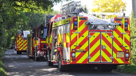 Stock image of Suffolk fire engines. Picture: SARAH LUCY BROWN