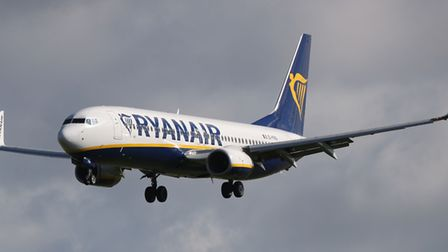 File photo of a Ryanair jet, similar to the one flying from Lithuania to Luton which has been escort