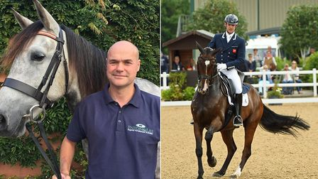 Tony Lock, left, and Spencer Wilton, right, have been nominated for a horse and hound award. Picture