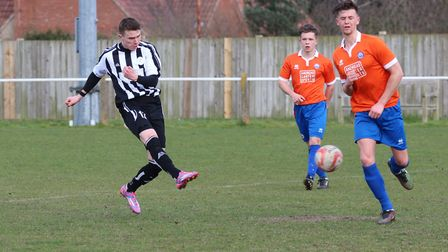 George Mrozek, in his Woodbridge Town days, has joined Whitton United.