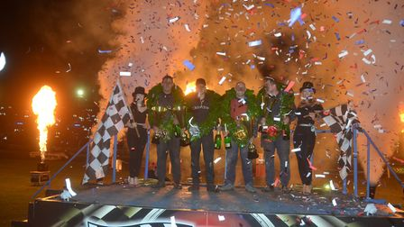 The podium at last year's World Banger Championship. Picture: DEAN COX