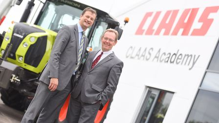 Opening of new CLAAS Academy. Left to right, CEO Trevor Tyrrell and board representative Lothar Kris