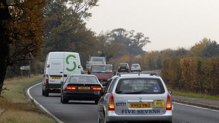 The crash happened on the A120. File picture: LUCY TAYLOR