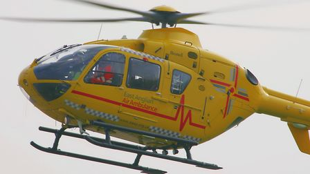 An air ambulance was called to an accident on the A14. Picture: ARCHANT LIBRARY