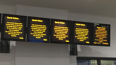 Trains have been suspended because of the issue. Fil picture: GEMMA MITCHELL