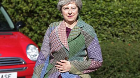Prime Minister Theresa May arriving for an event in Reading on Friday where she responded to talk of