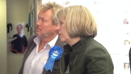 Giles Watling with Theresa May during his by-election campaign in 2014.