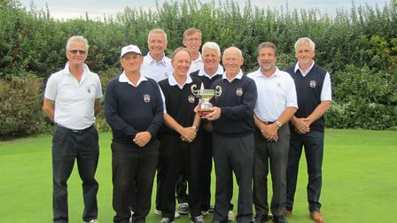 Ipswich Parks Trophy winners: From left: Peter Raspin. David Bryett, Paul Clouting, Adrian Callaby.