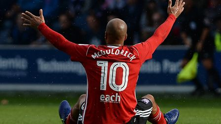 Ipswich Town striker David McGoldrick is out of contract next summer. Picture: PAGEPIX LTD
