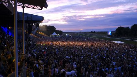 Crowds attended Little Mix's headline performance at Newmarket Nights in June. Picture: JOHN HOY