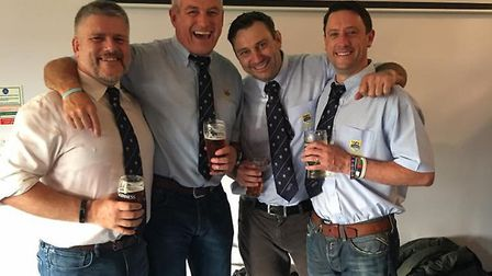 The unbeaten Chelmsford 'Undertakers' celebrate another win. Picture: ANNIE COULSON