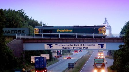 Improvements to the Ipswich-Felixstowe rail line will increase freight trains and take more lorries