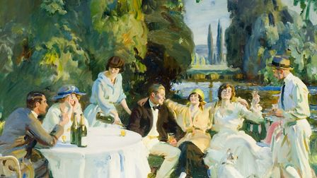 Tagg's Island (1919) by Sir Alfred Munnings which features in the new Munnings and the River exhibit