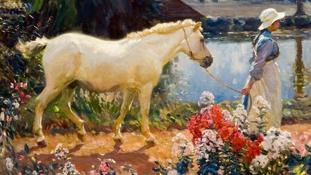 Path to the Orchard (1908) by Sir Alfred Munnings which features in the new Munnings and the River e