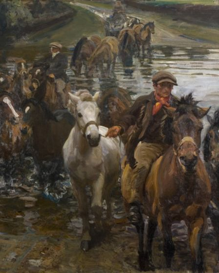 The Ford (1910) by Sir Alfred Munnings which features in the new Munnings and the River exhibition.