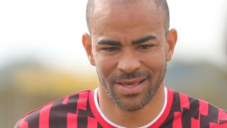 Keiron Dyer in a charity match at Woodbridge FC on SundayPICTURE: SEANA HUGHES