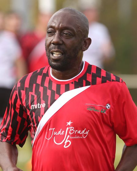Ruel Fox in a charity match at Woodbridge FC on SundayPICTURE: SEANA HUGHES