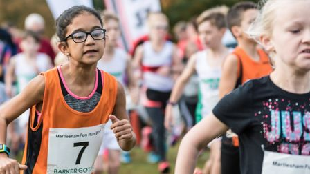 A picture of concentration at the Martlesham Fun Run