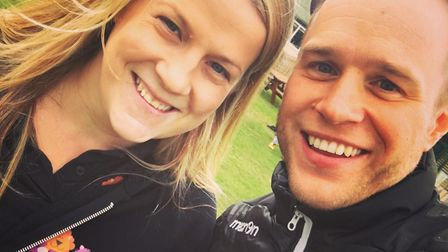 Olly Murs made a surprise visit to Lowestoft to watch some non-league football. Picture: Sara ???