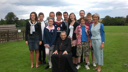 The late Father Geoffrey Smith with his family. Picture: HILARY BUTLER